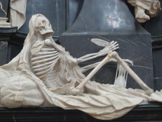 Skelett im Fuldaer Dom