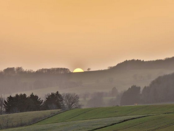Sonnenuntergang mit ordentlich Saharastaub in der Luft